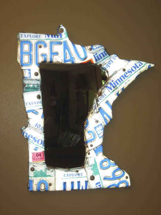 Licence Plate State Mirror