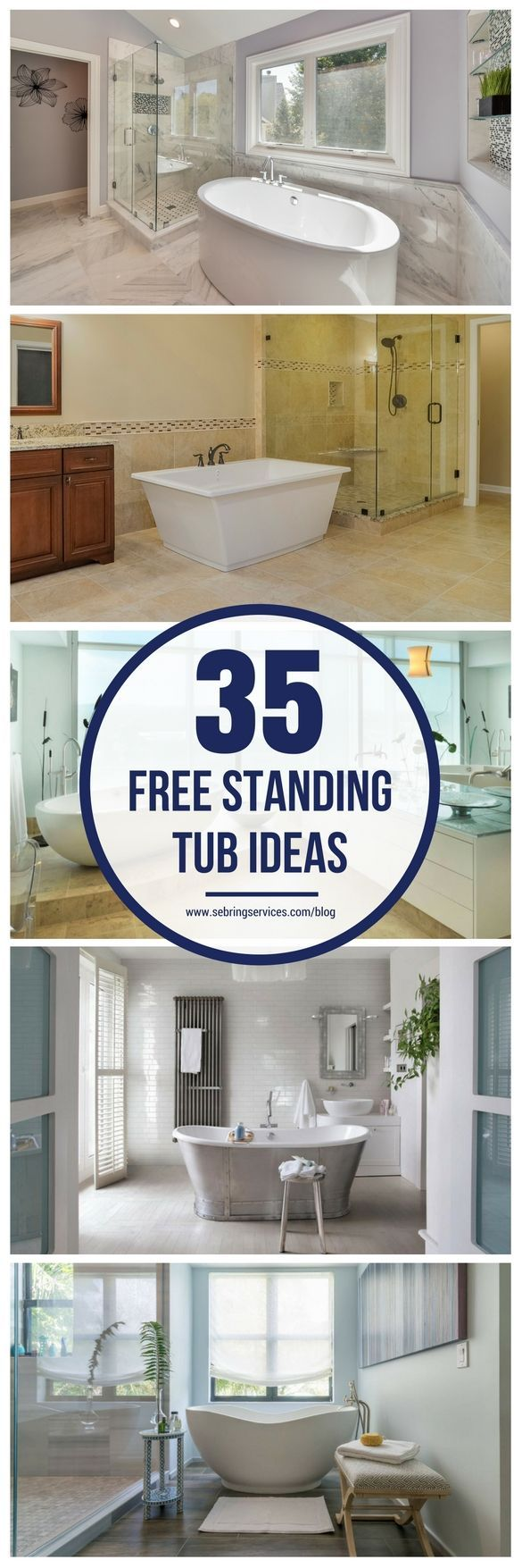 If you are considering a bathroom remodel; changing the bathtub (or introducing one) is one of the best ways to create a fresh look and change the feel and style of the bathroom. Depending on your budget, needs, and décor preferences, there are different types of bathtubs you can get. One of the most popular is the freestanding tub.
