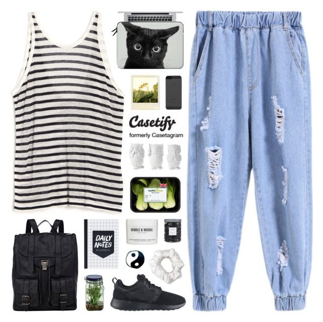 """Casetify 1"" by novalikarida ❤ liked on Polyvore featuring T By Alexander Wang, Apple, Casetify, Proenza Schouler, Polaroid, Alöe, NIKE, Design 55, Windle & Moodie and American Apparel"