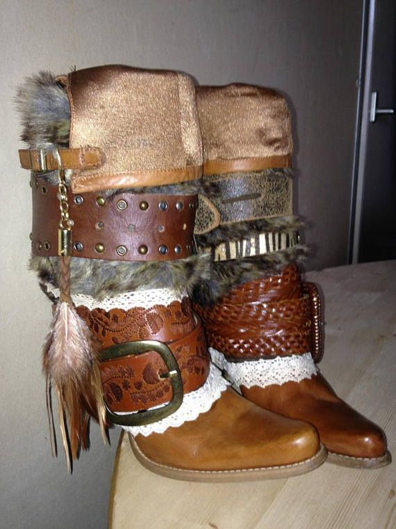 Boho Festival Cowboy Laarzen Dames Beautiful Leren Boots Leather 0fqOYw