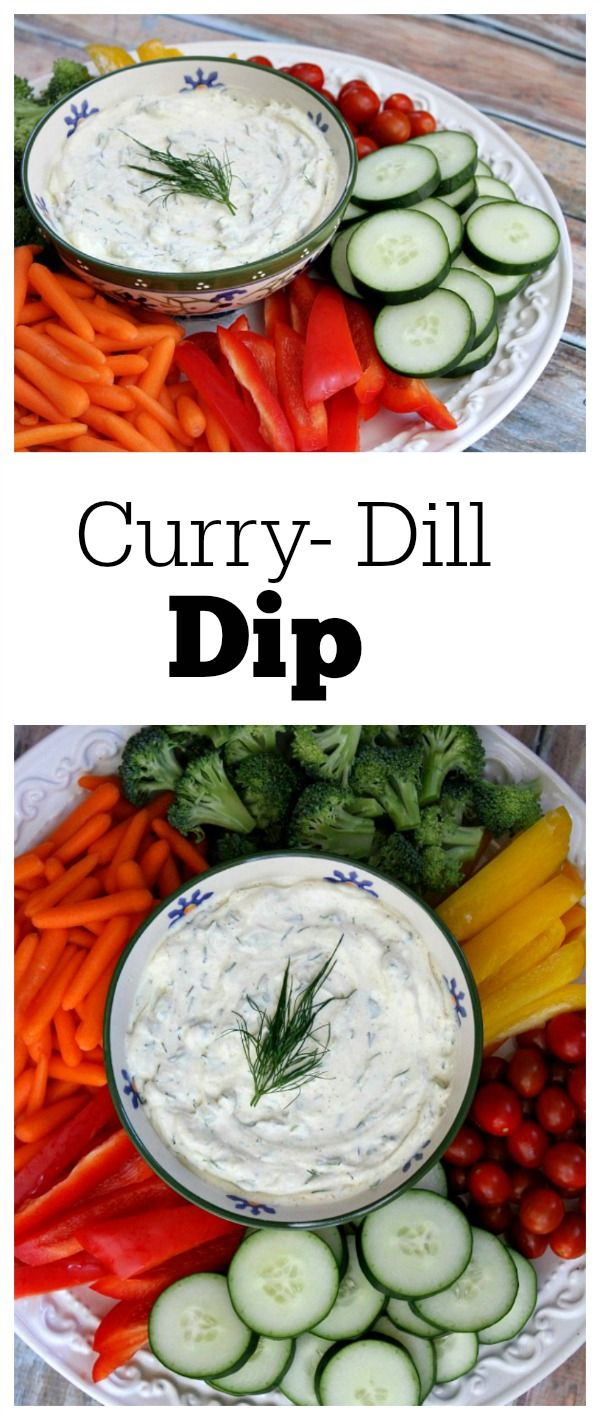 Curry- Dill Dip:  serve with fresh veggies!  This dip recipe has been a family favorite for over 40 years.