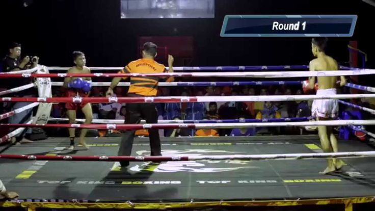 Jumping teep knockdown! Pro Muay Thai | Firdaus Kuda Putih vs Syahrul Mu...