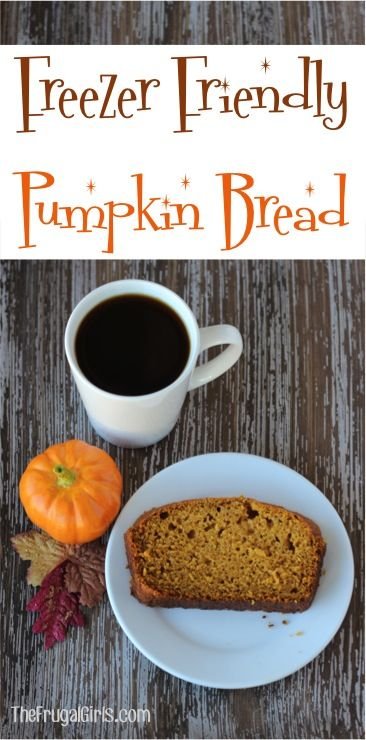 Freezer Friendly Pumpkin Bread Recipe! ~ from TheFrugalGirls.com ~ this delicious Pumpkin Bread freezes great and can be an indulgence year-round with this easy recipe! #recipes #meals #thefrugalgirls