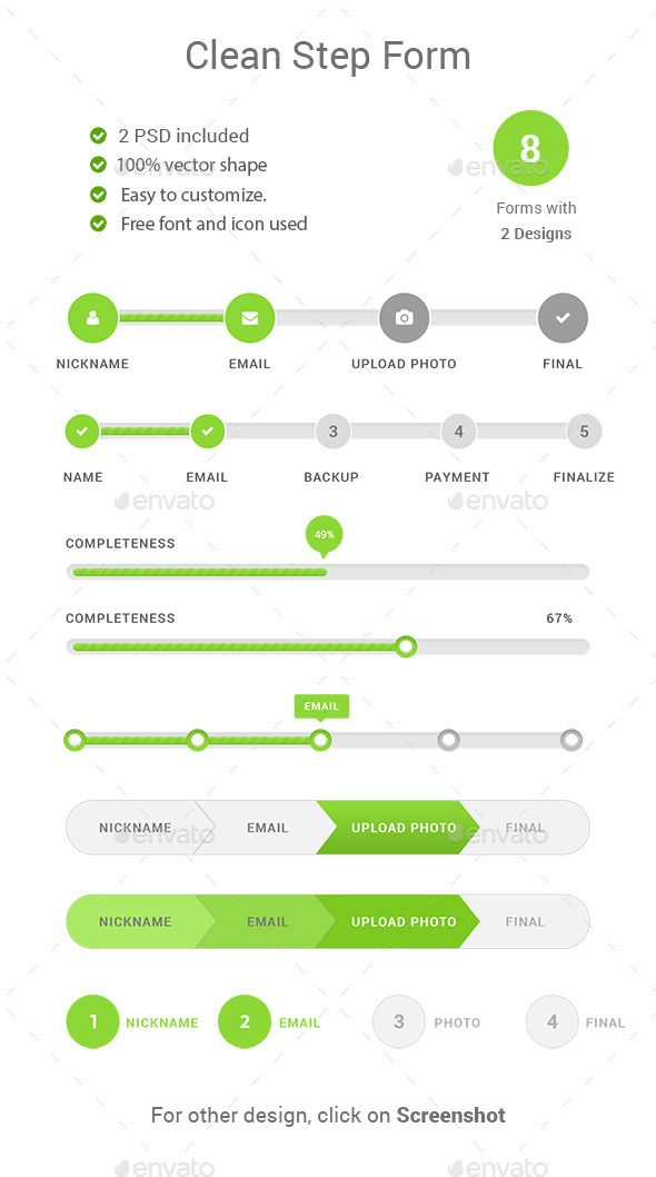 Step Forms Web Template PSD. Download here: http://graphicriver.net/item/step-forms/12262830?s_rank=30&ref=yinkira