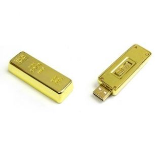 Promotional USB in the design of a gold bullion bar