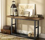 Griffin Reclaimed Wood & Wrought Iron Console Table - pottery barn