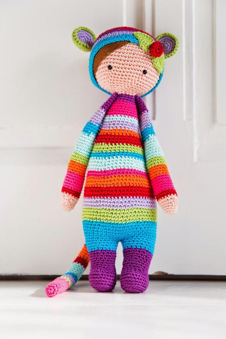 Rada the rat based on a lalylala crochet pattern