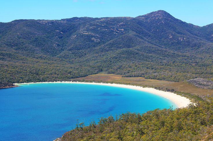 View of Wineglass Bay, Tasmania, Australia