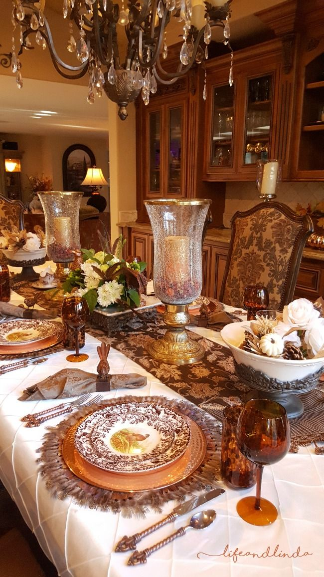 Forest Friends Tablescape Thanksgiving Table Decorations Dinner