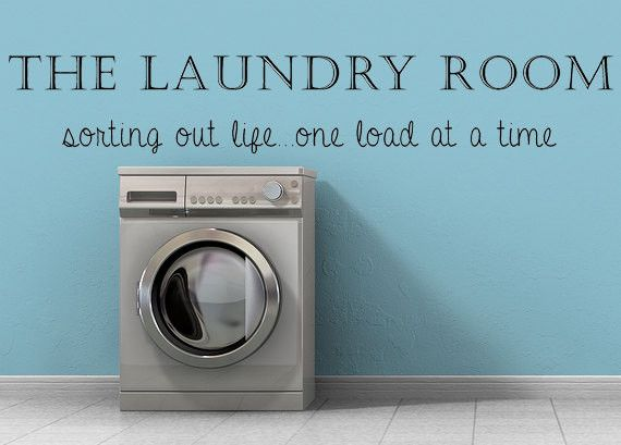 The Laundry Room Wall Decal, Vinyl Wall Decal, Laundry Room Sign, Laundry Room Decal, Laundry Room Decor, Sorting Out Life, Custom Vinyl