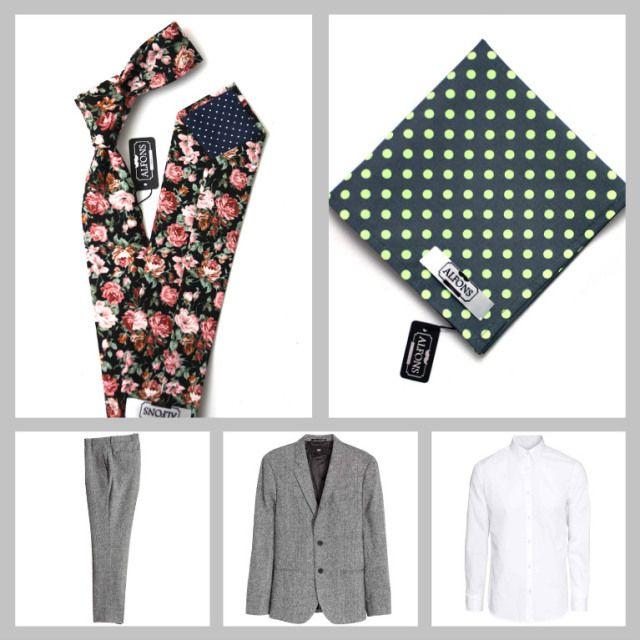 Květinové kravaty a jejich kombinování: 4 inspirativní outfity.  Inspirational flora tie men outfit.