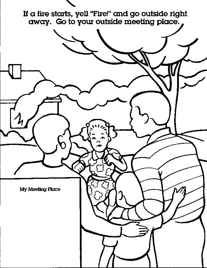 Fire Safety For Kids Coloring Pages Fire safety for kids