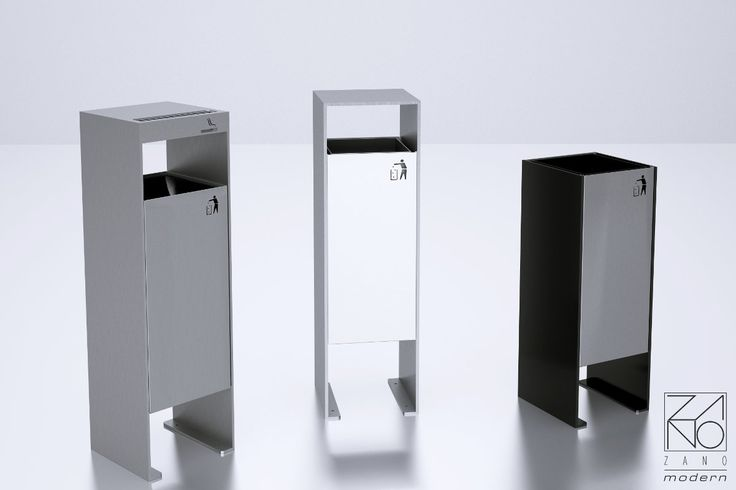 ZANO manufacturer produce contemporary litter bins, designed especially for modern environments both inside and out...