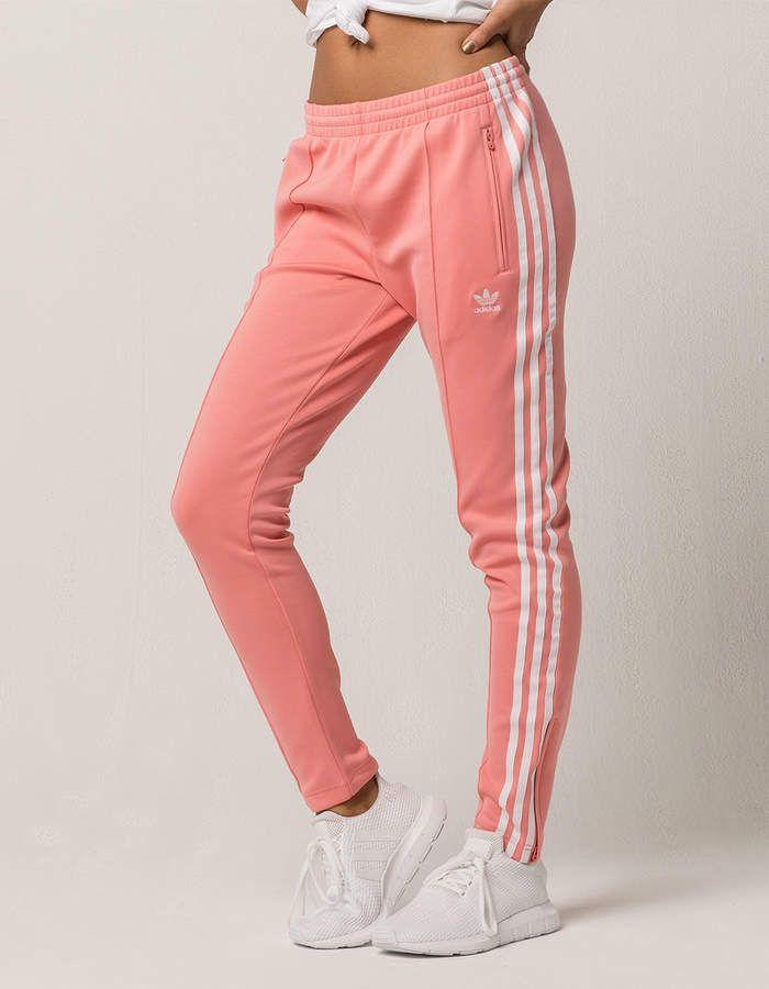 58b12474be Adidas SST Pink Womens Track Pants   Adidas   Adidas sweatpants ...