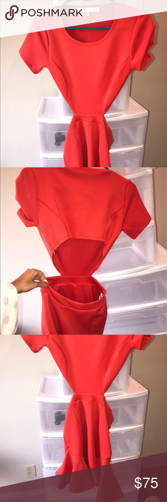 Lovers and friends red cut out dress Worn once Lovers + Friends Dresses Mini