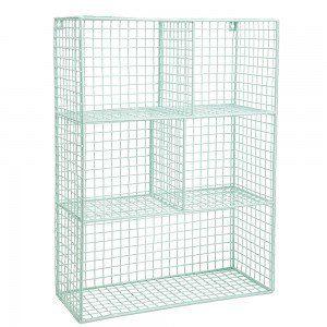 Mint GE Wire Wall Shelf