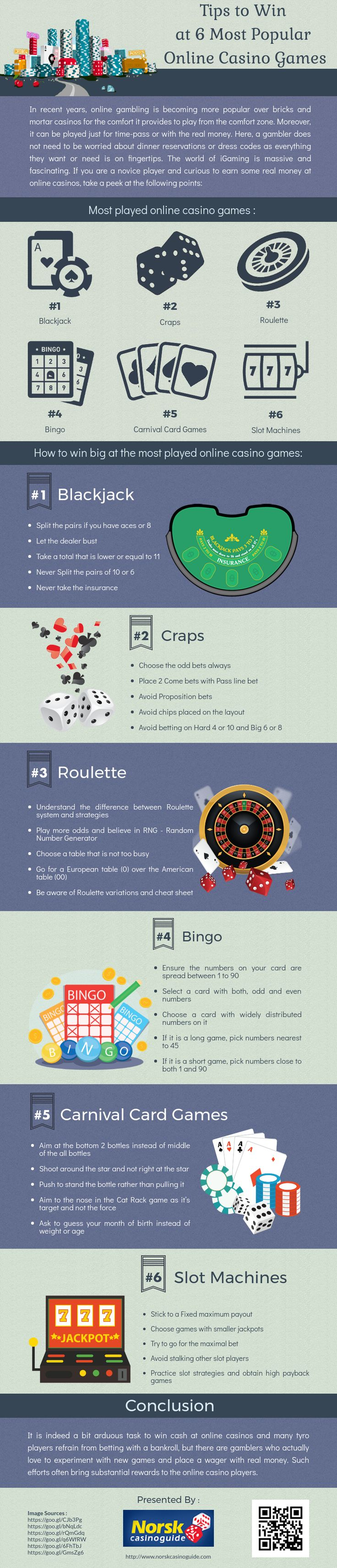Tips to Win at 6 Most Popular Online Casino Games