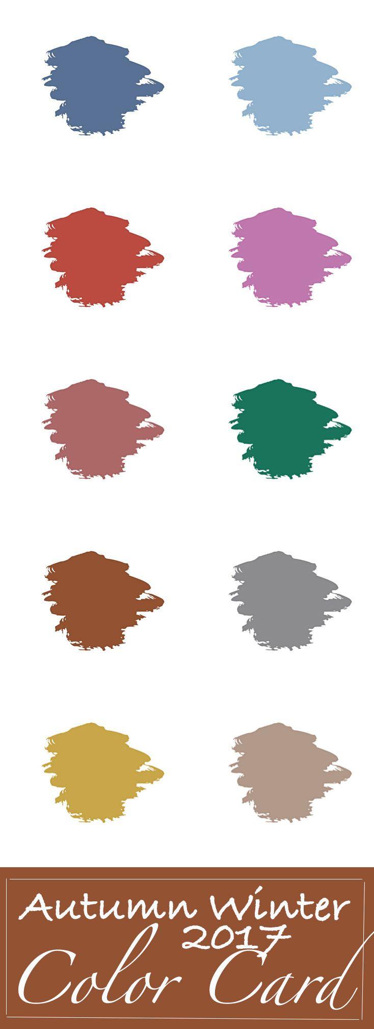 Color card Autumn Winter 2017 download direct de gratis colorcard | Trendbubbles.nl
