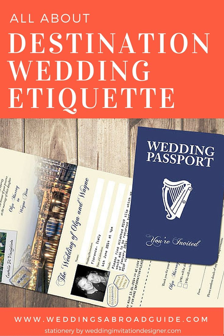 Inviting Guests To Your Destination Wedding