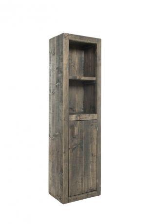 Mooi steigerhouten badkamermeubel in antraciet wash. Voor nog veel meer steigerhouten meubels en/of andere houtsoorten zoals bankirai, red cedar, douglas en eikenhout gaat u naar Stoereplanken.nl