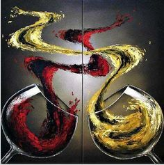 easy wine paintings on canvas - Google Search