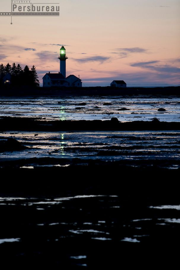 Canada. Lighthouse at Metis sur Mer.