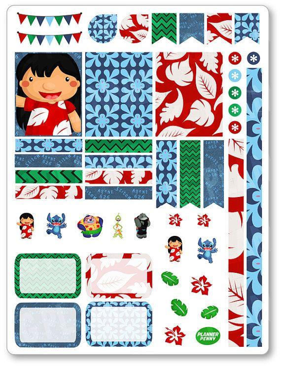 Ohana Decorating Kit / Weekly Spread Planner Stickers for Erin Condren Planner, Filofax, Plum Paper