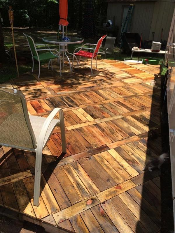 Diy Pallet Deck Ideas And Instructions Diy Amp Crafts That