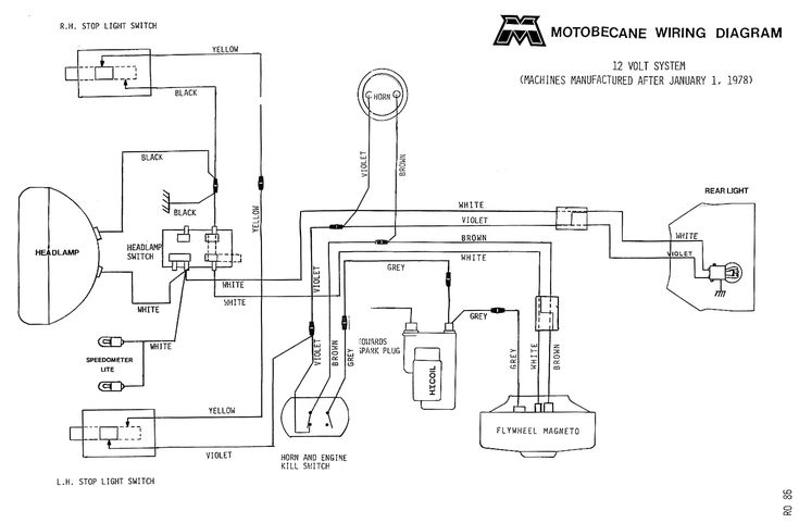 Motobecane wiring diagrams MopedWiki Diagram, Electric