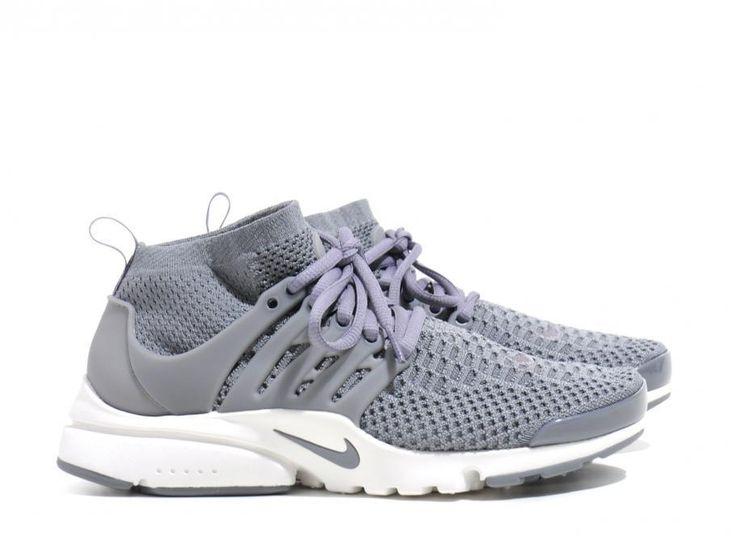 NEW Nike Women's Air Presto Flyknit Ultra Shoes 835738 002 Grey White ALL SIZES #Nike #RunningCrossTraining