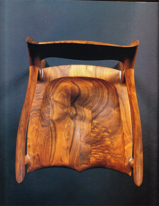 Low Back Sculptured Chair By Sam Maloof The Energy Of