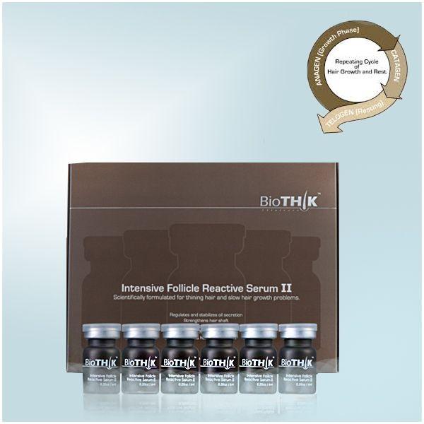 BioThik Follicle Reactive Serum innehåller flera ämnen som behövs för ett kraftigt och frisk hår, bland annat PCA-Järn, Biotin, Proteiner. BioThik Follicle Reactive Serum skapar en optimal miljö för hårsäckarna. Då kan hårsäckarna börja producera både starkare och friskare hårstrån än normalt!   http://www.hairmax.se/biothik-serum-1-mot-haravfall
