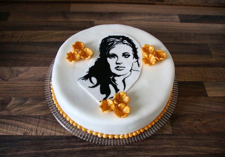 Adele Silhouette Cake