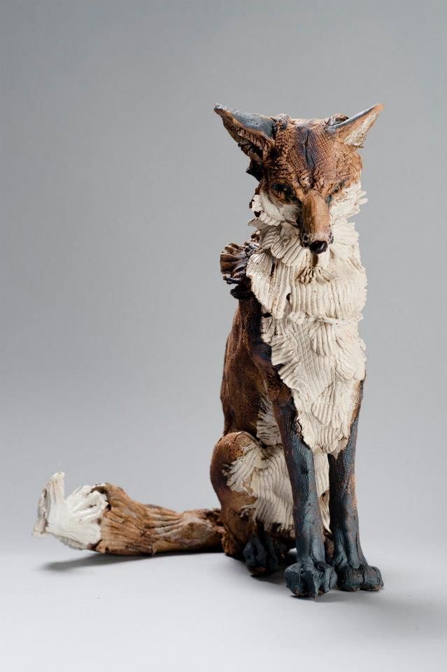 Fantasy | Whimsical | Strange | Mythical | Creative | Creatures | Dolls | Sculptures | Fox by Elaine Peto in the UK