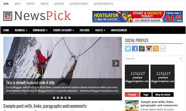 Tamplate Blogger Newspick