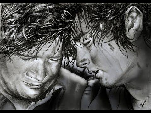 Frodo and Sam lotr (Elijah Wood Sean Astin) pencil drawing - YouTube