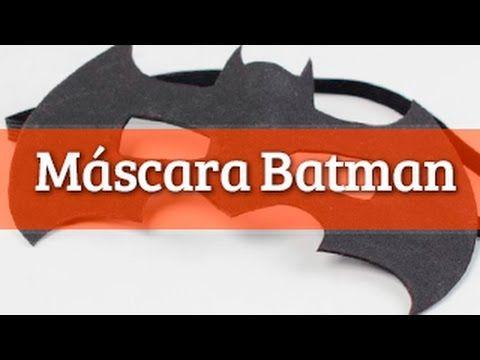 Manualidad para halloween o carnaval infantil. Máscara de Batman para niños muy fácil