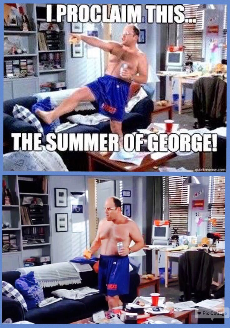 "(The Summer of George) - [George's severance package from the Yankees includes three months pay, so he declares it ""the Summer of George,"" where he will ""taste the fruits and let the juices drip down my chin!""]:"