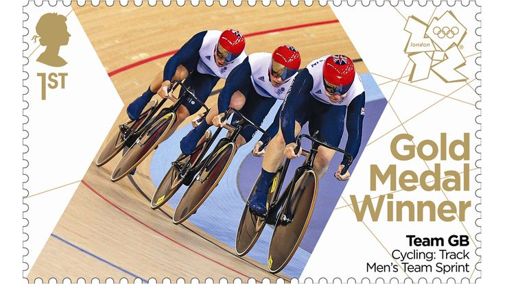 Royal Mail printed stamps to commemorate every Team GB gold medal at London 2012 and issued them within 24 hours of the win. Later on 'Thundering Thursday', 2 August, the men's sprint cycling team twice broke the world record on their way to victory in a packed velodrome, a result that saw Sir Chris Hoy equal Sir Steve Redgrave's British record of five Olympic golds.