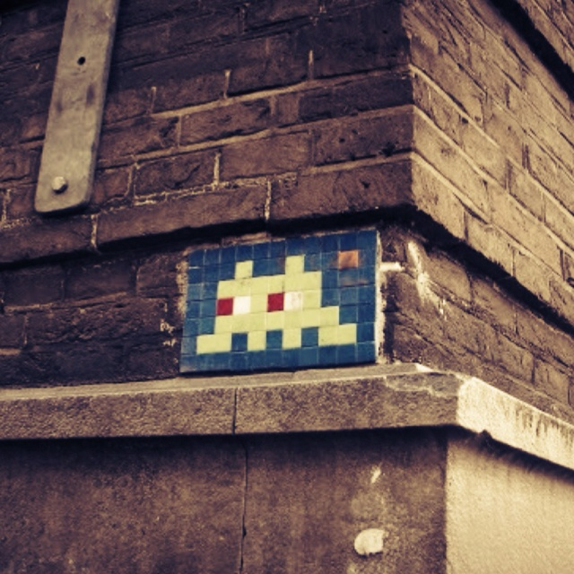 Space Invaders street art - i've found several in miami! i love it.