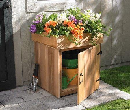 Outdoor Storage #Spring - Tips for your Front Door Facelift http://elenarosekoidis.tumblr.com/post/21275222705/diy-front-door-face-lift-by-elena-koidis-interior