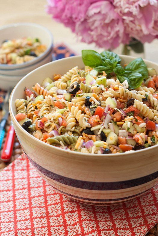 6081 best images about recipes on pinterest for Cold pasta salad ideas