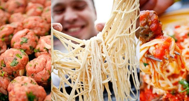 Justin Bonello's spaghetti & meatballs
