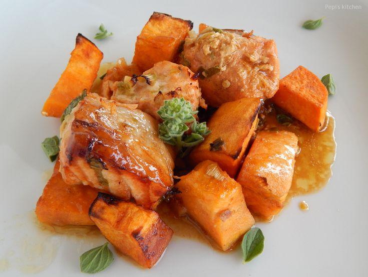 Pepi's kitchen: Σολωμός με γλυκοπατάτες