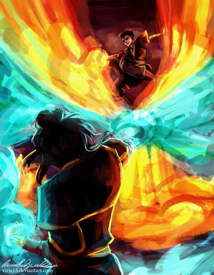 The showdown that was always meant to be. by *viria13 on deviantART- You know if Katara hadn't been there I'm pretty sure Zuko would've beaten Azula. He was already winning.