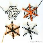 Popsicle Stick and Yarn Spider Web Craft for Kids
