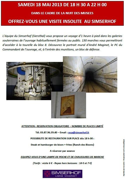 La nuit des musées au Simserhof samedi 18 mai dès 18h