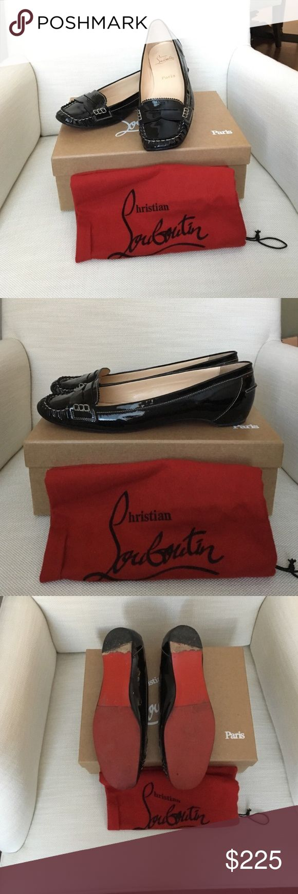 Christian Louboutin Penny girl flats Authentic patent leather Christian Louboutin Penny Girl flats in amazing condition. Vibran anti slip sole has been added to half of the sole(see third picture for details) Box and dust cover included. Euro size 40.5 or US 10 1/2.  Negotiation only happens through the offer button. Lowball offers will be ignored. NO TRADES Christian Louboutin Shoes Flats & Loafers