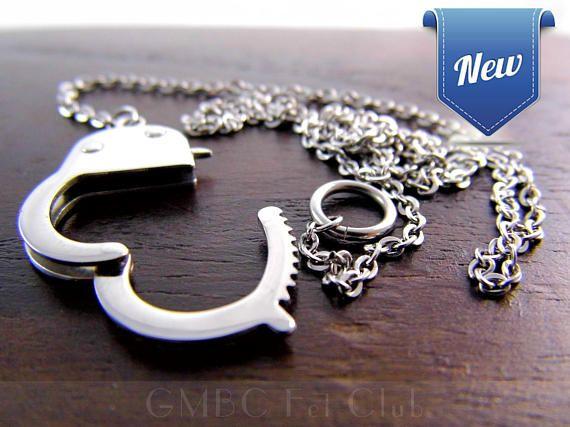 Steel Handcuff Necklace @ GMBC Fet Club