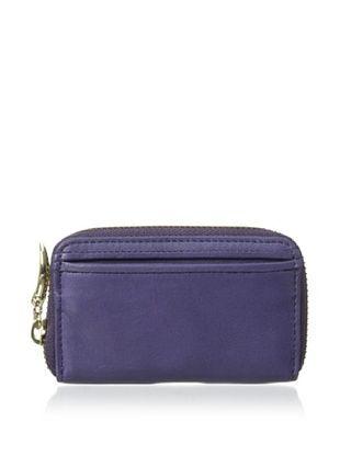 50% OFF Tusk Women's Donington Napa Zip Coin/Card/Key Holder, Purple